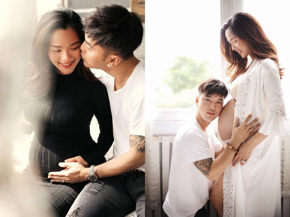 Bà xã Ưng Hoàng Phúc vẫn sexy dù sắp sinh con thứ 3
