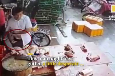 Cảnh trộm cắp thịt lợn ở TQ giữa thời dịch bệnh hoành hành