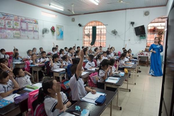 Ngôi trường hơn 50% học sinh được dự lễ khai giảng