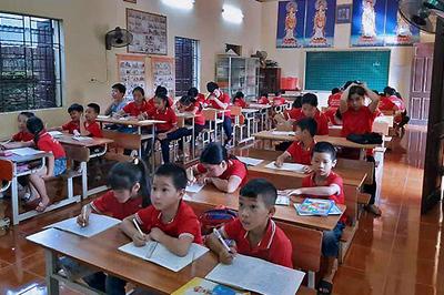 Lớp học đặc biệt trong ngôi chùa ở Chương Mỹ, Hà Nội