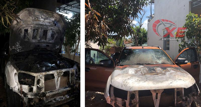 Ford Ranger Wildtrak,cháy xe,xe bốc cháy,ford ranger bốc cháy,cháy xe trong đêm