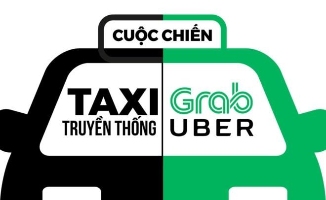 kinh tế chia sẻ,grab,uber,ứng dụng công nghệ,kinh tế nền tảng,taxi truyền thống,Vinasun kiện Grab