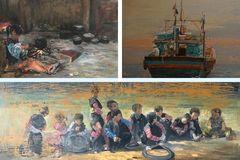Bộ tứ họa sĩ Hà Thành mở triển lãm mỹ thuật 'Tứ lập 3'