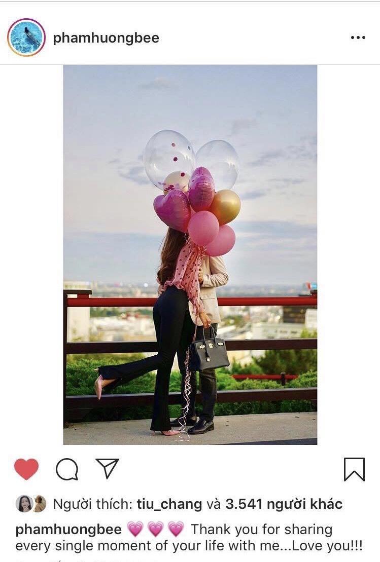 Phạm Hương lần đầu công khai hình ảnh hạnh phúc cùng bạn trai