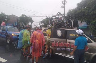Chặng 5 giải xe đạp VTV Cup 2019: Huỷ vì mưa bão