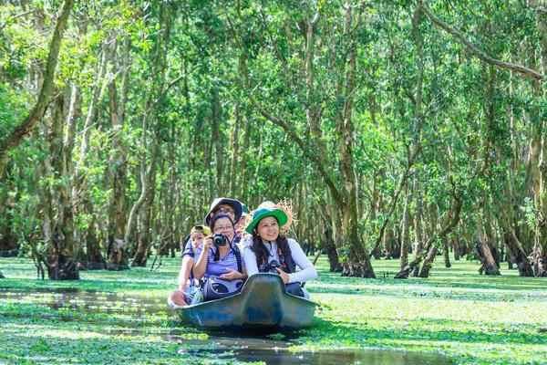 'Phiêu bồng' trong khu rừng Tràm đẹp nhất Việt Nam
