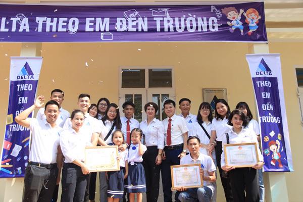 DELTA bàn giao phòng học điểm trường Tiểu học & THCS xã Hợp Thành - Hòa Bình