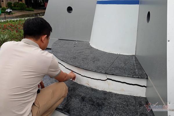 Công trình tiền tỷ ở Quảng Trị nứt toác sau 1 tháng sử dụng