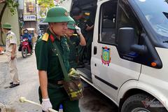 8 ngày sau vụ cháy Rạng Đông, bộ đội hóa học tất tả giám định ô nhiễm