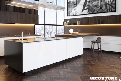 Mãn nhãn những mẫu thiết kế bàn bếp làm từ đá Vicostone