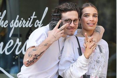Vợ chồng Beckham vui vẻ khi con trai chia tay bạn gái