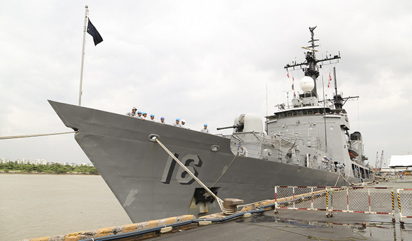 Tàu Hải quân Hàn Quốc, Philippines thăm Việt Nam