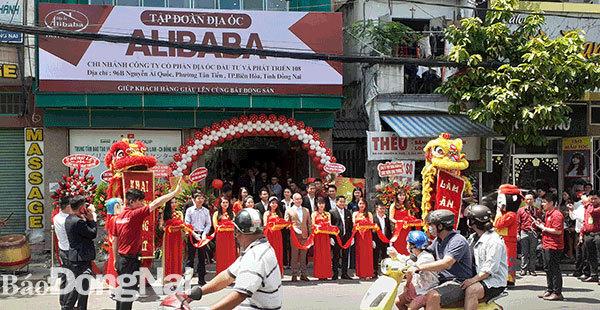 Địa ốc Alibaba khai trương văn phòng trái phép ở TP Biên Hòa