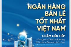 VietinBank 4 năm liên tiếp đạt giải 'Ngân hàng Bán lẻ tốt nhất Việt Nam'