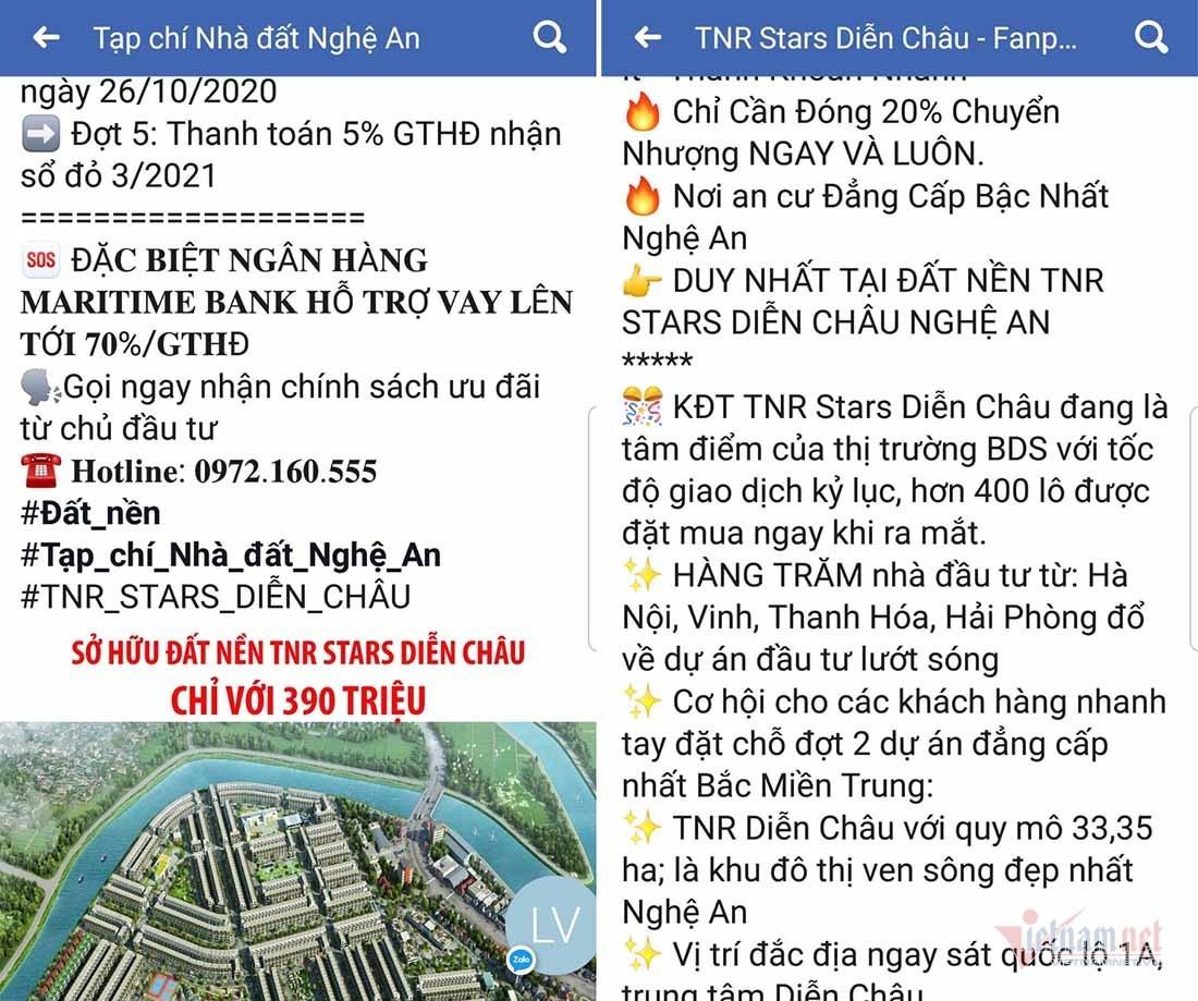 Dự án nghìn tỷ TNR Stars Diễn Châu chưa đủ điều kiện rao bán, cho thuê mua nhà ở