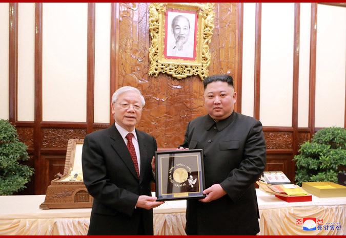 Tổng bí thư,Chủ tịch nước Nguyễn Phú Trọng,Nguyễn Phú Trọng,Triều Tiên,Kim Jong-un