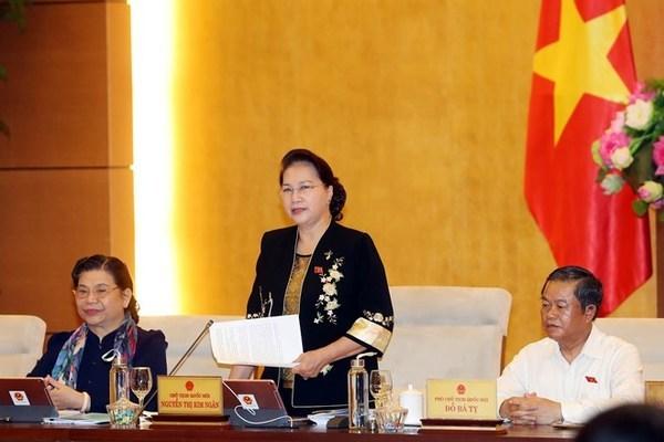 NA Standing Committee,NA Chairwoman Nguyen Thi Kim Ngan,Vietnam politics news,Vietnam breaking news,politic news