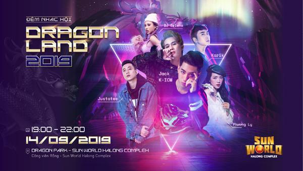 Phương Ly, JustaTee tụ hội đêm nhạc Sun World Dragon Land
