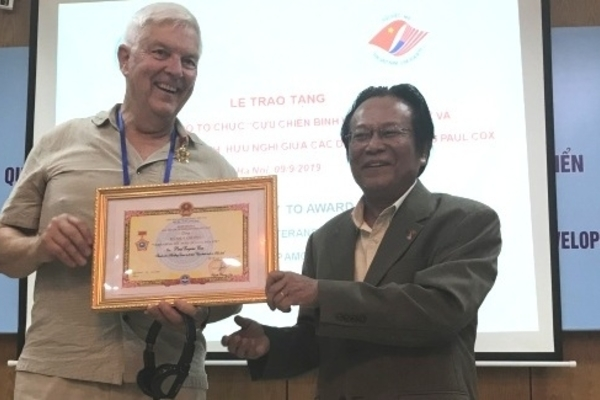 US Veterans for Peace honoured with friendship union's certificate of merit
