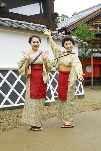 Vi vu trải nghiệm ở công viên Edo Wonderland, Nhật Bản