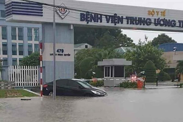 Thai Nguyen City deeply submerged after downpours