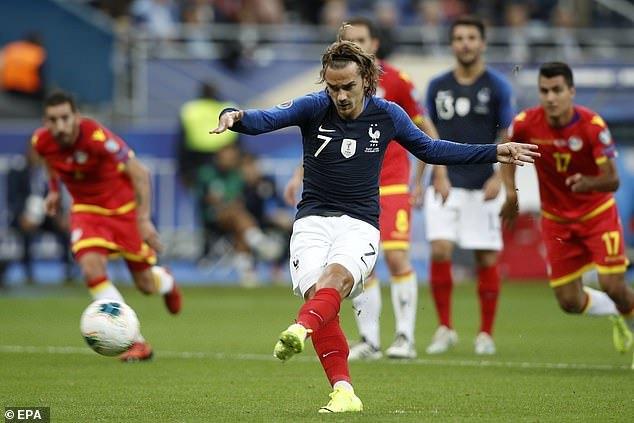 Griezmann đá hỏng 11m, Pháp vẫn thắng dễ Andorra