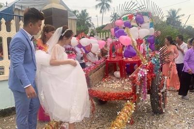 Độc đáo đám cưới rước dâu bằng xe trâu ở Thanh Hóa