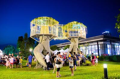 Lung linh đêm hội trăng rằm ở ParkCity Hanoi