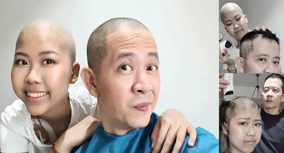 Đạo diễn 'Những ngọn nến trong đêm' cạo đầu, hiến tuỷ cho con gái ung thư
