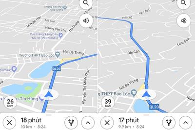 Cách theo dõi vận tốc di chuyển bằng Google Maps