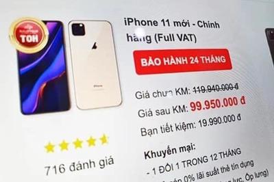 Giá iPhone 11 về Việt Nam: Rẻ nhất 21,99 triệu, đắt nhất 43,99 triệu đồng