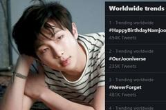 Trưởng nhóm BTS được người hâm mộ 'phủ sóng' toàn cầu trong ngày sinh nhật
