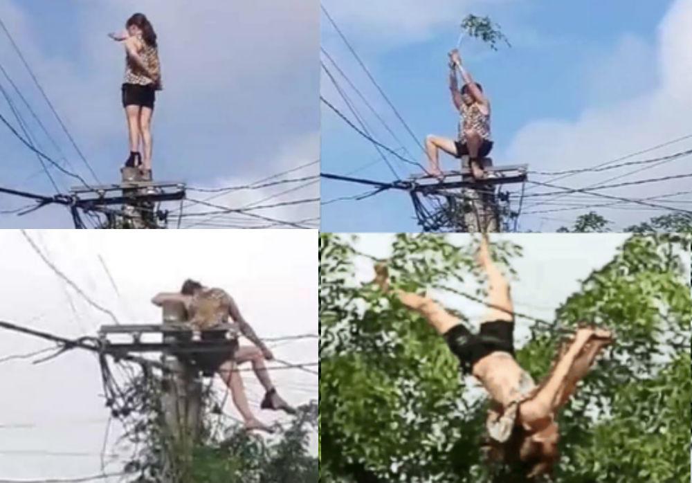 Người phụ nữ ở Đắk Lắk đu lộn nhào trên dây điện, nghi do làm ăn thua lỗ