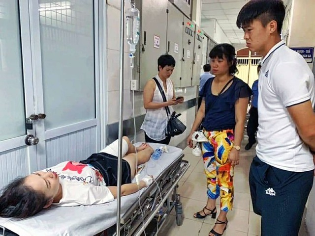 Woman injured by flares at Hanoi football clash