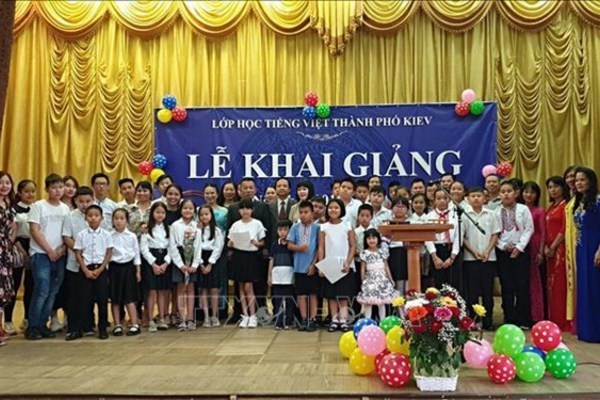 Vietnamese language class for children in Ukraine,overseas vietnamese in ukraine,vietnamese language teaching overseas,social news,english news