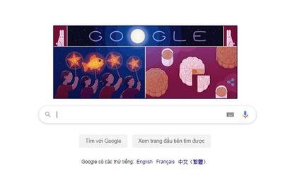 Google đổi giao diện mừng Tết Trung thu Việt Nam