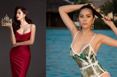 Người đẹp hở ngực ở 'Cuộc đua kỳ thú' thi Hoa hậu Trái đất 2019