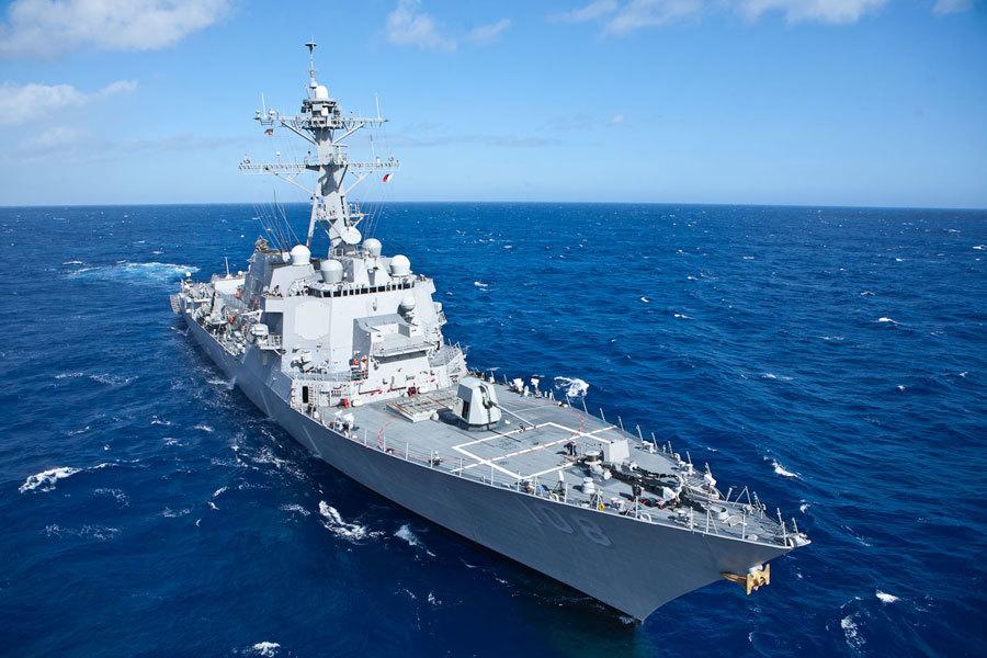 Tàu khu trục Mỹ áp sát Hoàng Sa