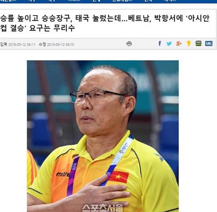 VFF phủ nhận chuyện 'ép' chỉ tiêu với HLV Park Hang Seo