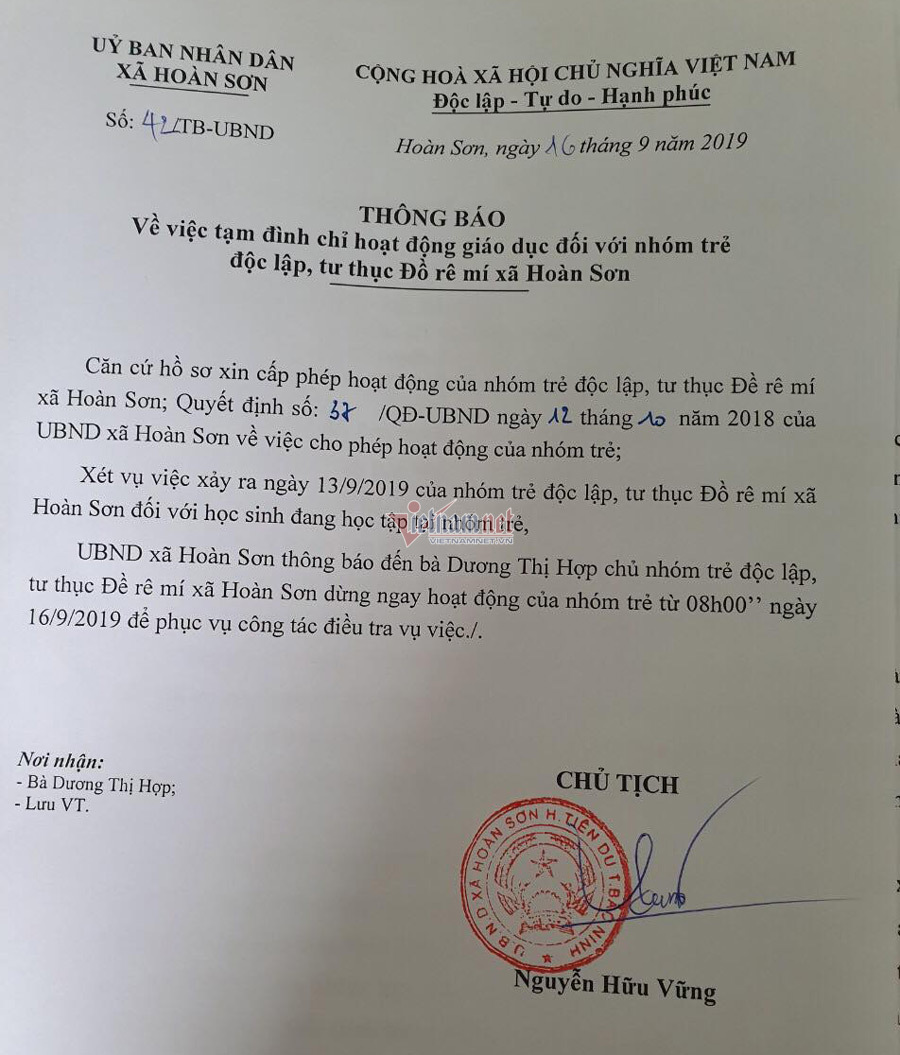 Tạm đình chỉ cơ sở mầm non để quên bé 3 tuổi trên xe ở Bắc Ninh