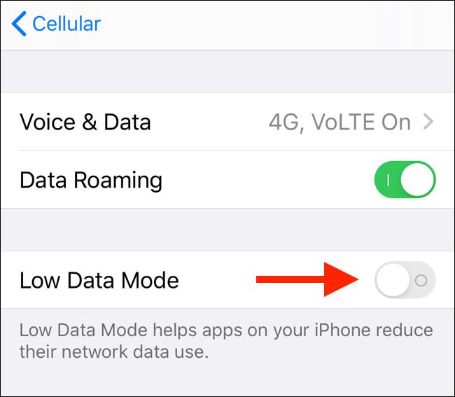 iPhone,thủ thuật iPhone,Apple,tiết kiệm dữ liệu