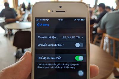 Cách tiết kiệm dung lượng 3G/4G trên iPhone chạy iOS 13