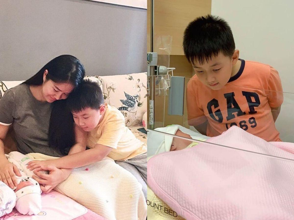 Lê Phương xúc động vì con trai lén trốn theo mẹ và em gái mới sinh