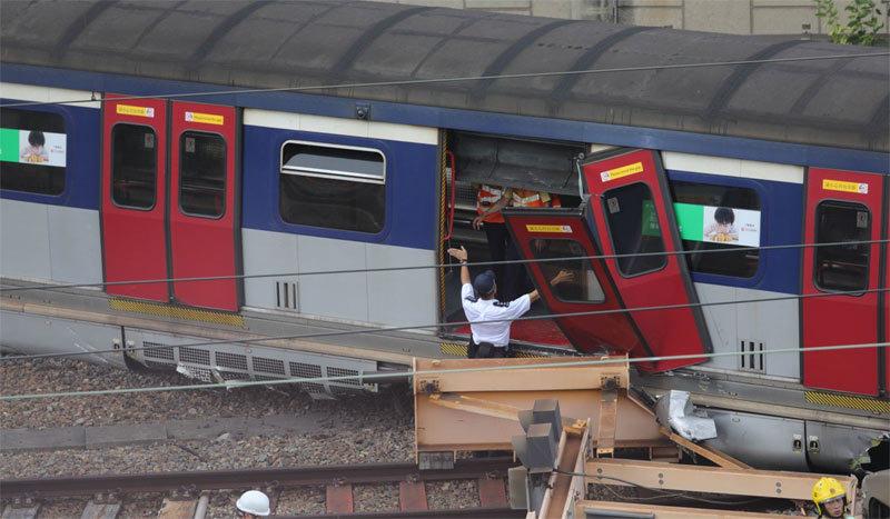 Hong Kong,tai nạn,tai nạn tàu,tàu điện ngầm