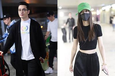 Huỳnh Hiểu Minh né Angelababy ở sân bay, có biểu hiện bất ổn