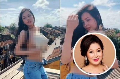 Cô gái cởi trần quay sexy ở Hội An nhận là diễn viên, NSND Hồng Vân lên tiếng