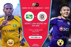 Trực tiếp SLNA vs Hà Nội: Đội hình siêu tấn công