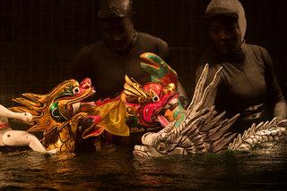 Rối nước truyền thống thử nghiệm với 'Mơ Rồng'