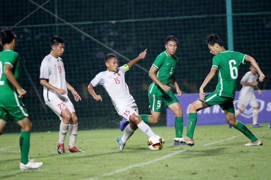 U16 Việt Nam đánh bại U16 Macau bằng ván tennis