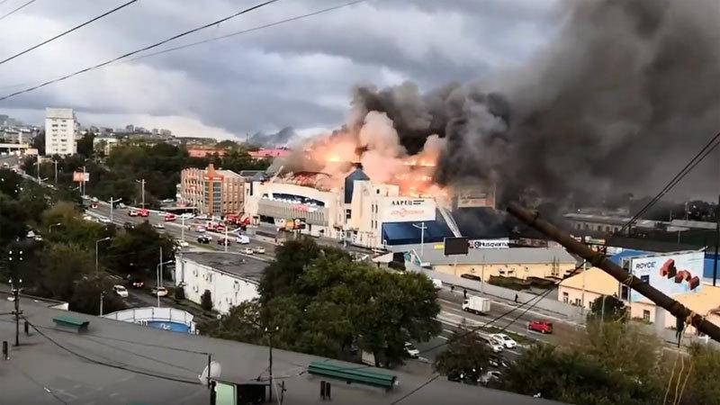 Nga,hỏa hoạn,cháy,trung tâm mua sắm
